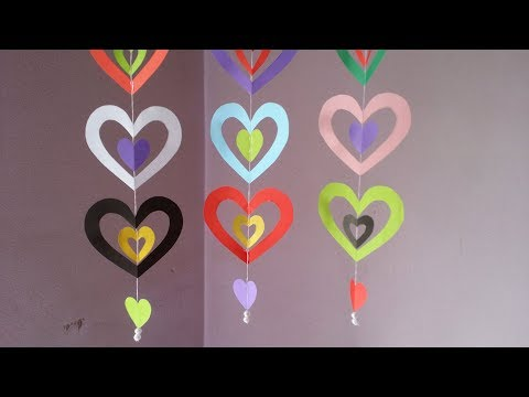 DIY: Paper Crafts!!! How to Make Easy && Beautiful Paper Hanging for Wall /Party /Home Decoration!!!