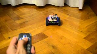 One of my first projects, made 2 years ago. one pololu zumo chasis working with 2 motors and arduino board. I have attached one IR sensor so I can control de...