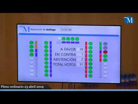 Pleno ordinario de la Diputación correspondiente al mes de abril
