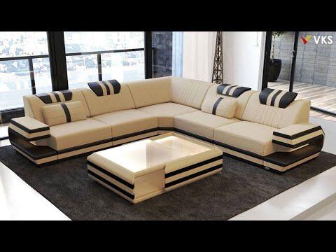 Modern Sofa Set Interior Design Ideas | Living Room Corner Sofa Design | U Shaped Sofa Design