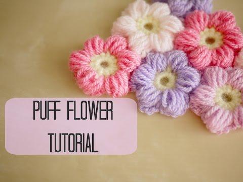 uncinetto - fiore puff
