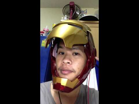 Iron man hemlet scale 1:1 ( wear test with face up-down ) By Tong KLOmdiK