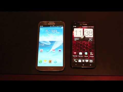 Verizon Galaxy Note II Vs HTC Droid DNA! DeathMatch!