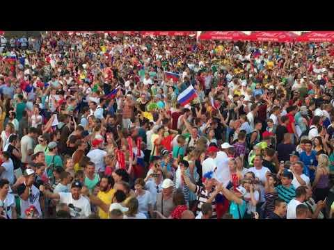 Как Самара отмечала победу сборной России над Испанией