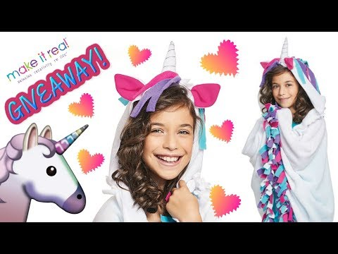 DIY How to Make Unicorn Hoodie Blanket from Make It Real