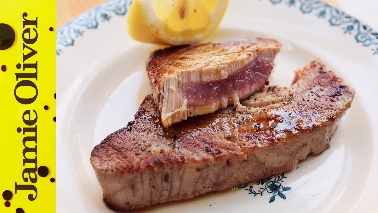 How to cook tuna steak jamie oliver for What does a tuna fish look like