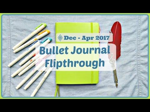 Bullet Journal Flipthrough | December 2016 to April 2017 | The Boosted Journal