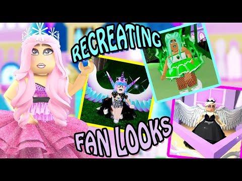RECREATING FAN LOOKS in Royale High w/ Ashleyosity! Roblox