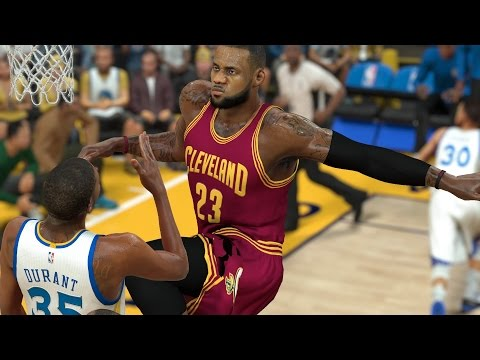 Can One Giant 7 Foot 7 Lebron James Defeat The Whole Golden State Warriors Team? NBA2K17 Challenge