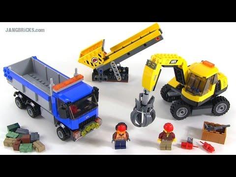 """Конструктор Lego City 60075 """"Экскаватор и грузовик"""""""