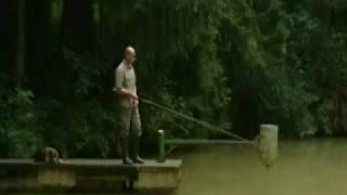 Obersteinebach Germany  city photos : Waller fängt Fischer, 100kg Waller geht auf Fischer los