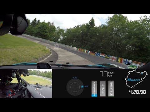 Onboard Lap - Porsche Taycan Sets a Record at the Nürburgring-Nordschleife