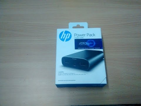 HP powerbank Unboxing