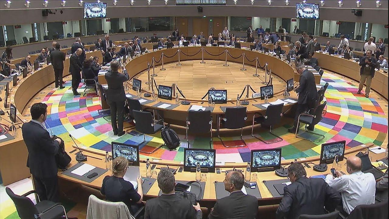 Συνεδρίαση του Eurogroup 24/5/2018 πλάνα από το στρογγυλό τραπέζι