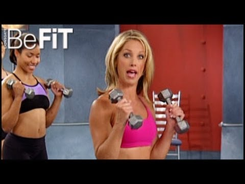 befit Be Fit denise austin - Denise Austin: Arms & Shoulders Workout- Level 3 is an advanced upper-body workout that is designed to burn fat, strengthen the core, tone the chest, and scu...