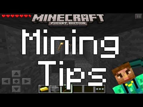 Minecraft Pocket Edition: MINING TIPS w/Shnun