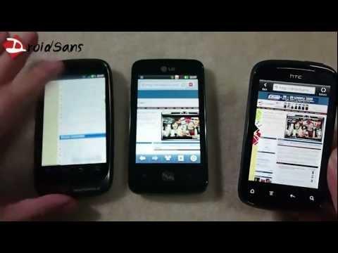 DroidSans Review : hTC Explorer , Motorola Fire XT , LG Optimus Hub (in Thai)