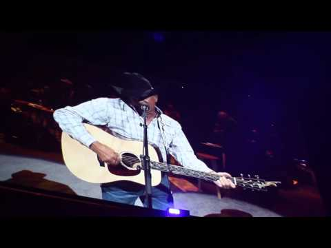 What were the first words from George Strait after returning to stage after 2 years...