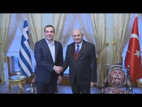Συνάντηση του Αλέξη Τσίπρα με τον πρόεδρο της Τουρκικής Εθνοσυνέλευσης Μπιναλί Γιλντιρίμ