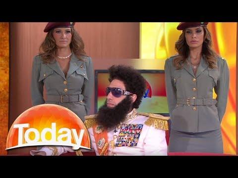 The Dictator imparts his wisdom on Aussie TV