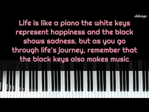 Happiness quotes - Life is like a piano  Life Quotes