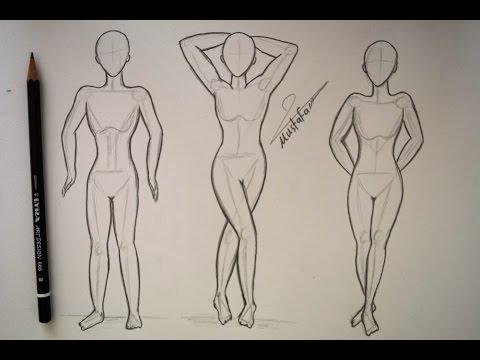 طريقة رسم الجسم بالرصاص مع ثلاث طرق مختلفة للرسم