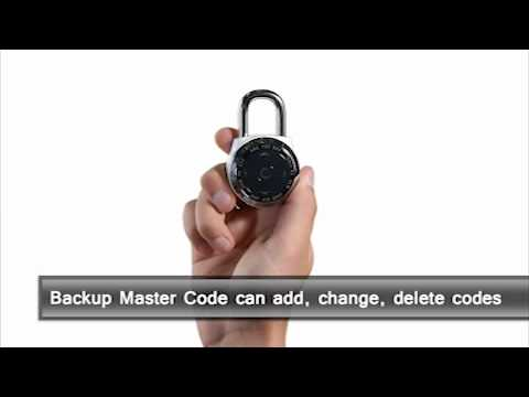 Screen capture of Master Lock 1500eXD dialSpeed™ - Backup Master Code