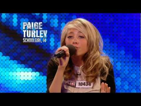 paige - At 14, Paige Turley sings Bon Iver's hit Skinny Love like a diva- tastic powerhouse performer. So much so that BGT Judge Simon Cowell tells Paige she is one ...
