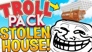 AIRSHIP STOLEN HOUSE PRANK *MUST SEE* (ARCHIMEDES MOD) - MODDED MINECRAFT TROLL PACK #5