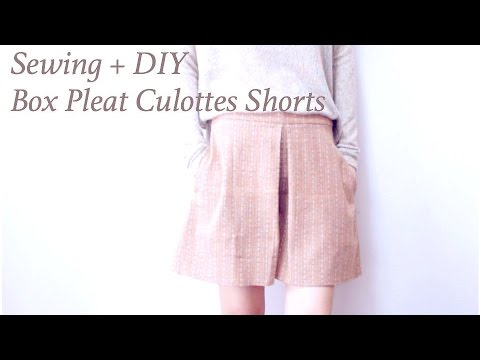 DIY Box Pleat Culottes Shortsㅣmadebyaya