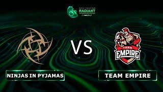 Ninjas in Pyjamas vs Team Empire - RU @Map4 | Dota 2 Tug of War: Radiant | WePlay!