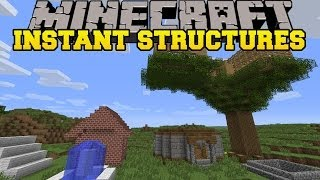 Minecraft: INSTANT STRUCTURES (INSTANT MOB TRAP, HOUSES AND MORE!) Instant House Mod Showcase