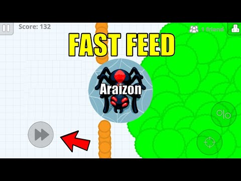 DESTROYING AGARIO WITH *NEW* FAST FEED METHOD!  (AGARIO MOBILE)