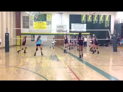 Roullier - Kazlyn Roullier #5 6 foot Class of 2015 Club Catalyst volleyball u-16's Standing reach 7'6