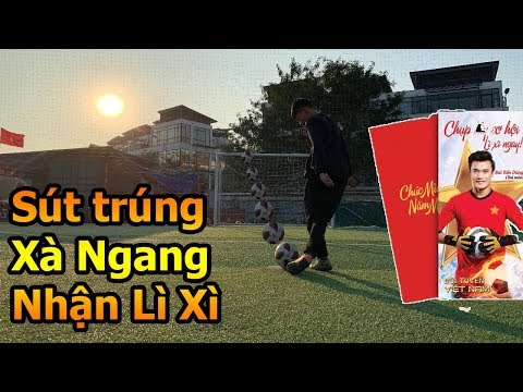 Thử Thách Bóng Đá Hậu Asian Cup 2019 thi sút xà ngang cùng Đỗ Kim Phúc nhận Lì Xì tết Việt Nam - Thời lượng: 11 phút.