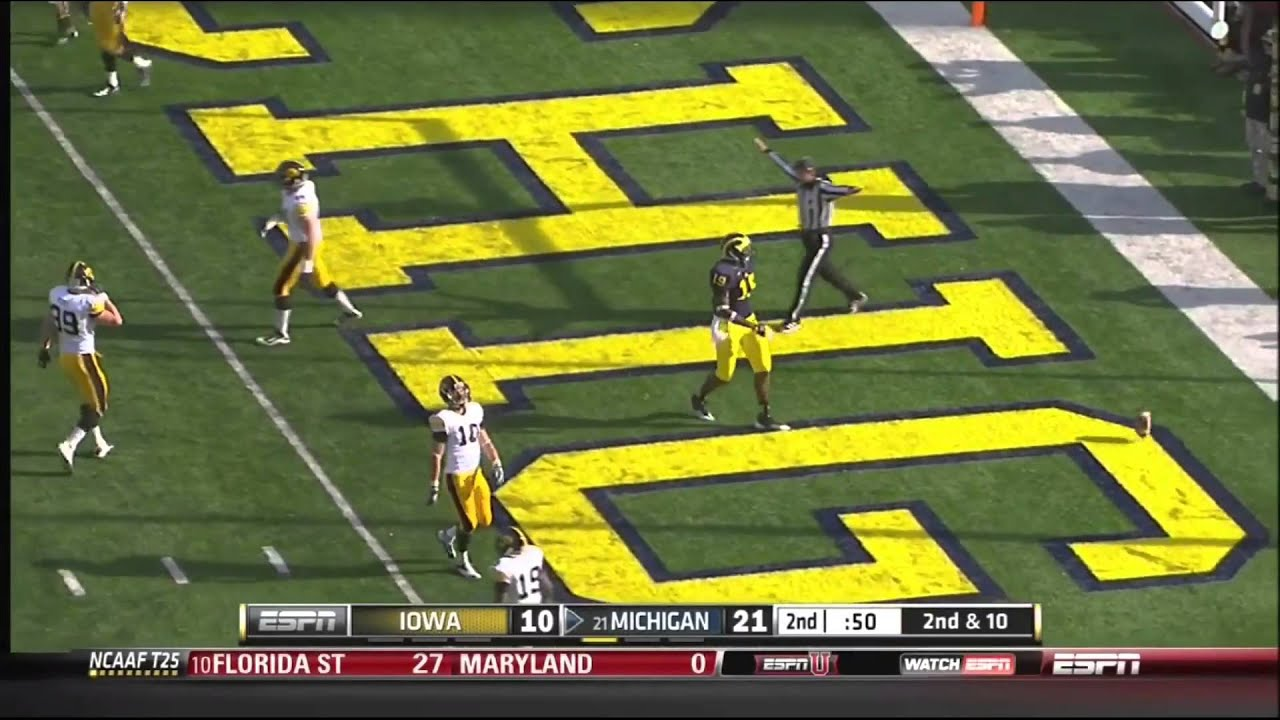 Devin Gardner vs Iowa (2012)