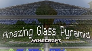 Minecraft: Building an Amazing Glass Building with a Speed Build Time Lapse