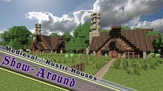 Minecraft, Small & Neat Rustic/Medieval Houses! ( By Jeracraft )