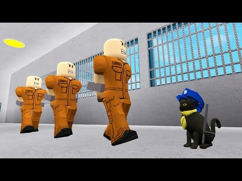SIR MEOWS A LOT IS A POLICE OFFICER IN ROBLOX! (Roblox Movie)