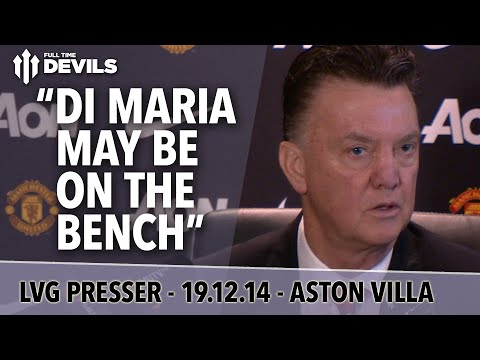 Conference - Louis Van Gaal's weekly Press Conference for Manchester United's game against Aston Villa this weekend. There's talk of returning players including Di Maria! Subscribe, FREE, for more MUFC:...
