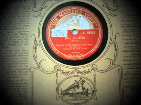 Video Half as much - Alma Cogan - 1952 download in MP3, 3GP, MP4, WEBM, AVI, FLV January 2017