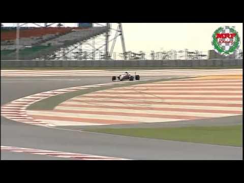 MRF Formula 2000 test drive by Narain at the BCD