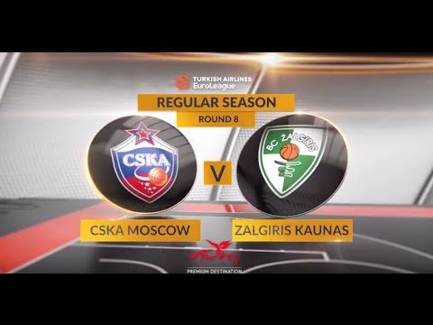 EuroLeague Highlights RS Round 8: CSKA Moscow 95-86 Zalgiris Kaunas