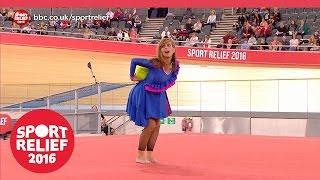 Tameka Empson out-ribbons Freddie Flintoff in rhythmic gymnastics