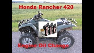 9. How to change the engine oil on a 07-13 Honda Rancher 420