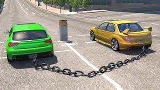 Video BeamNG drive - Chained Cars against Bollard MP3, 3GP, MP4, WEBM, AVI, FLV Agustus 2017