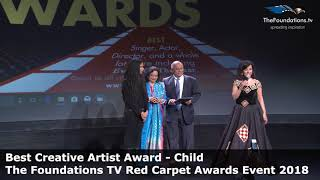Meghana Basi wins The Foundations TV Best Creative Artist Child Award