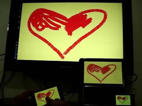 Video of Blackboard Remote Finger Draw