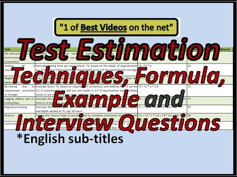 Test Estimation techniques, formula, example and Q&A