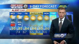It's going to be another hot and humid day. Rain and thunderstorms are likely this afternoon and evening.Subscribe to KMBC on YouTube now for more: http://bit.ly/1fXGVrhGet more Kansas City news: http://kmbc.comLike us:http://facebook.com/kmbc9Follow us: http://twitter.com/kmbcGoogle+: http://plus.google.com/+KMBC